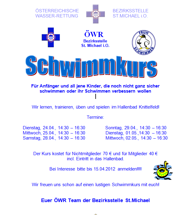 schwimmkurs april 2012